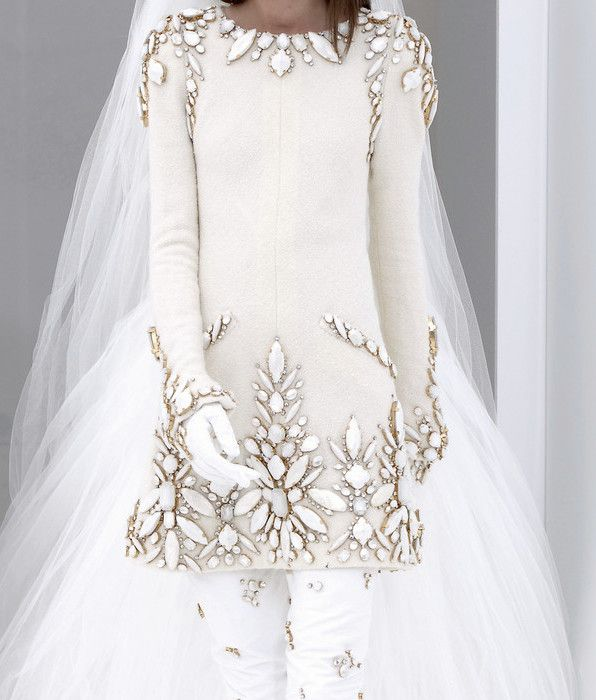 Bejewelled Chanel Haute Couture Wedding Gown