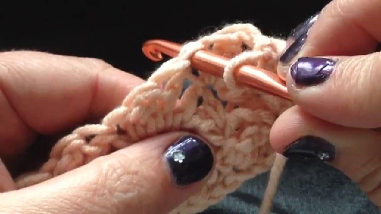Golfjessteek Sterretjes Steek Dekensteek Blanket Stitch Haken