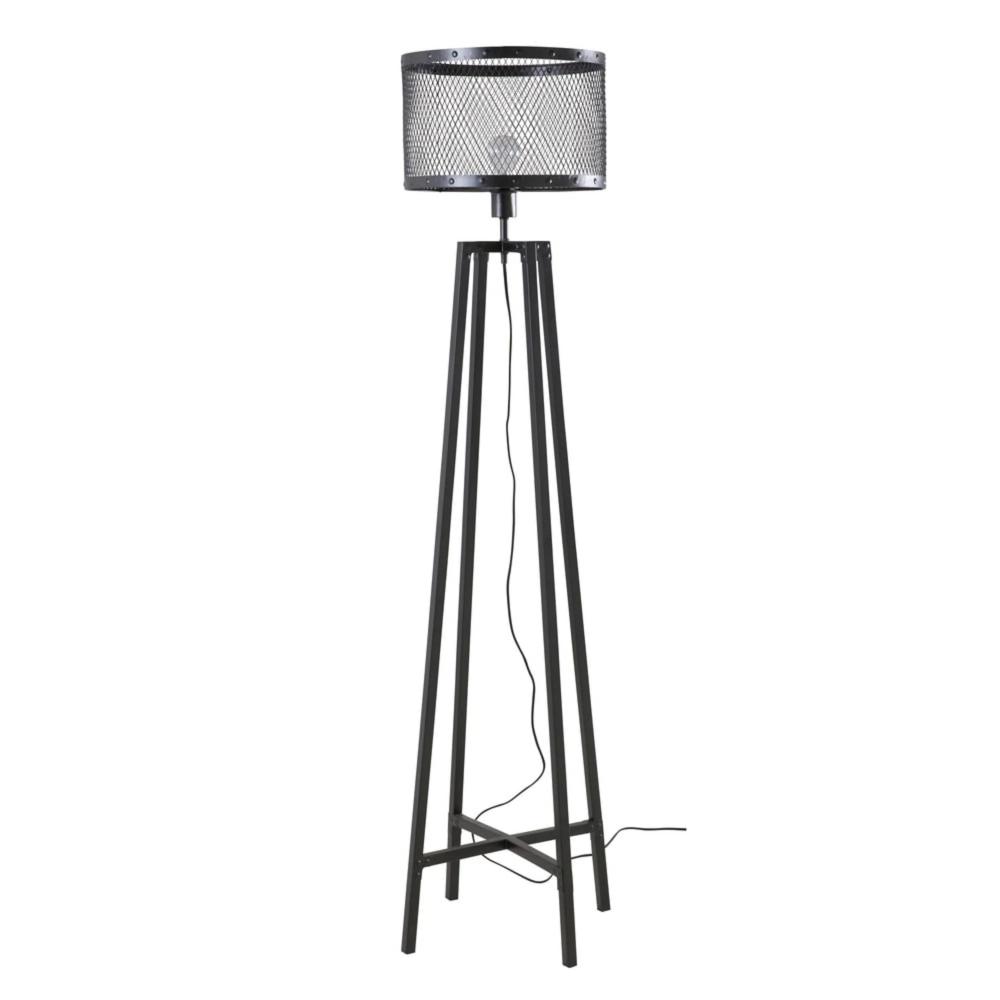 Industrial Style Metal Base Floor Lamp
