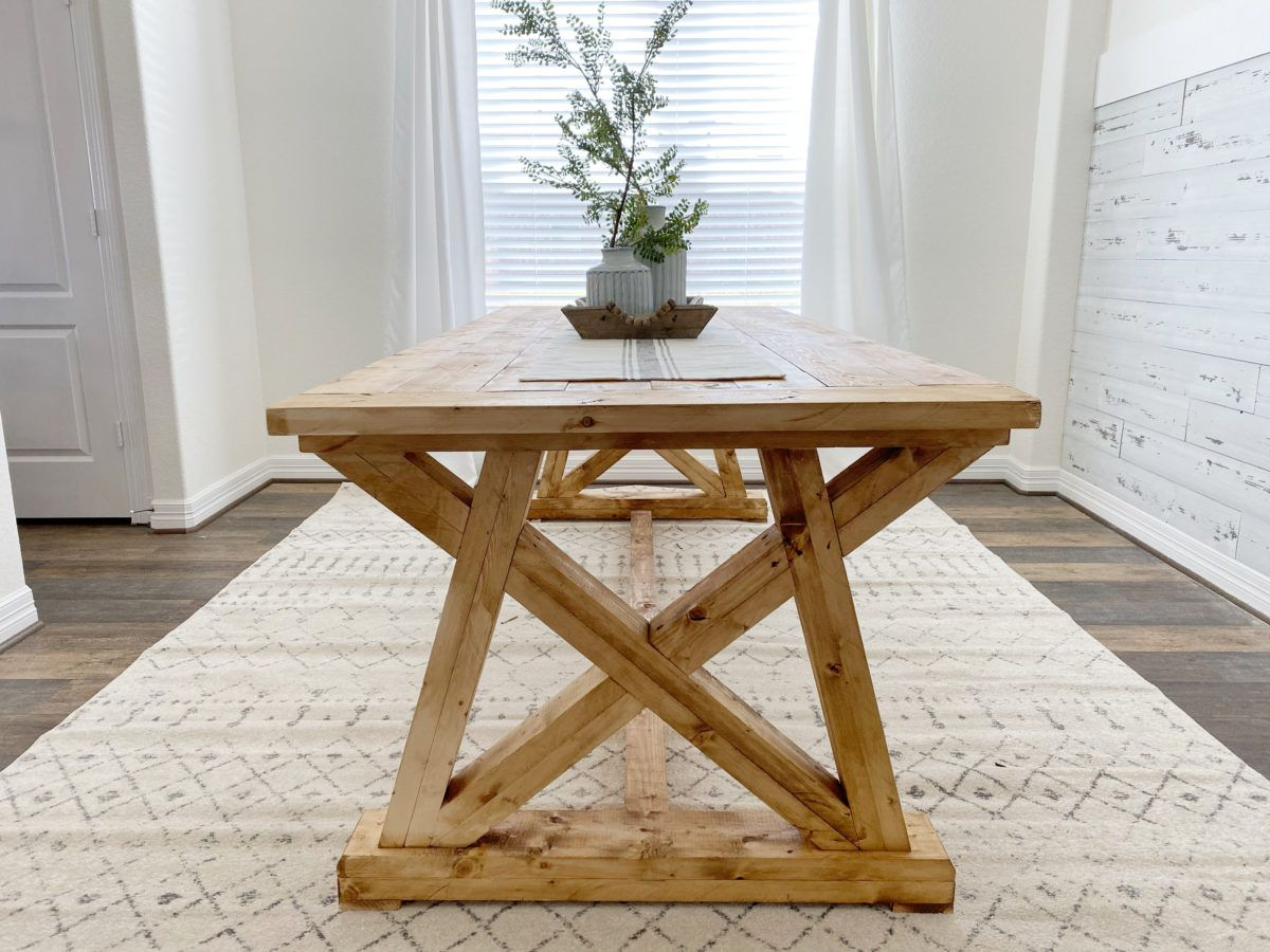 Diy Dining Table For 129 In 2020 Diy Dining Table Diy Dining Room Table Diy Dining
