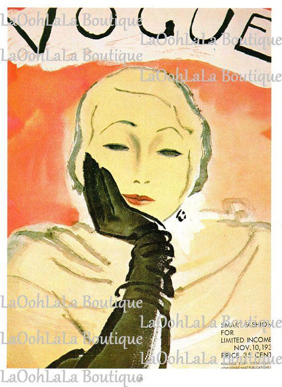 1930 Darling Dowager Vogue Cover Vintage 1980 Fashion Print Erickson ...
