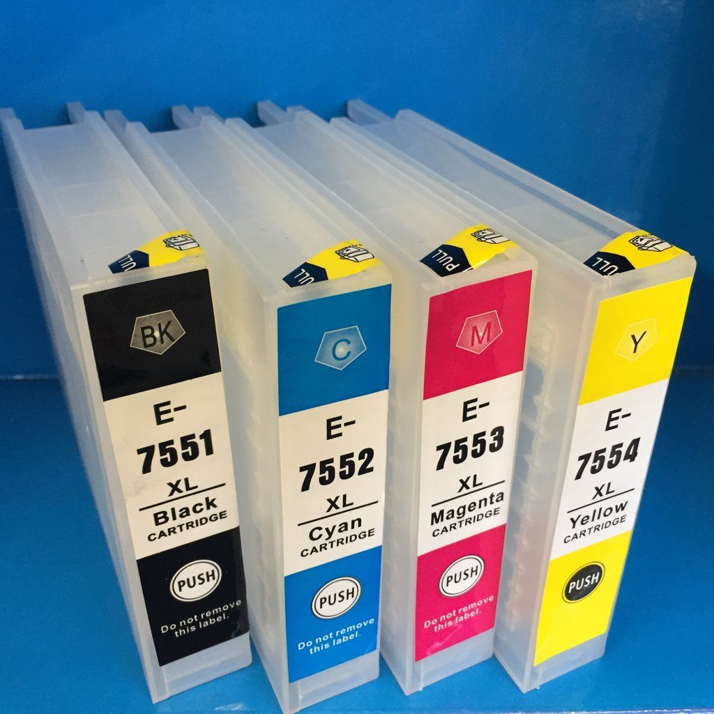 Epson T 7551 7662 7553 7554 75 Refillable Ink Cartridge Workforce