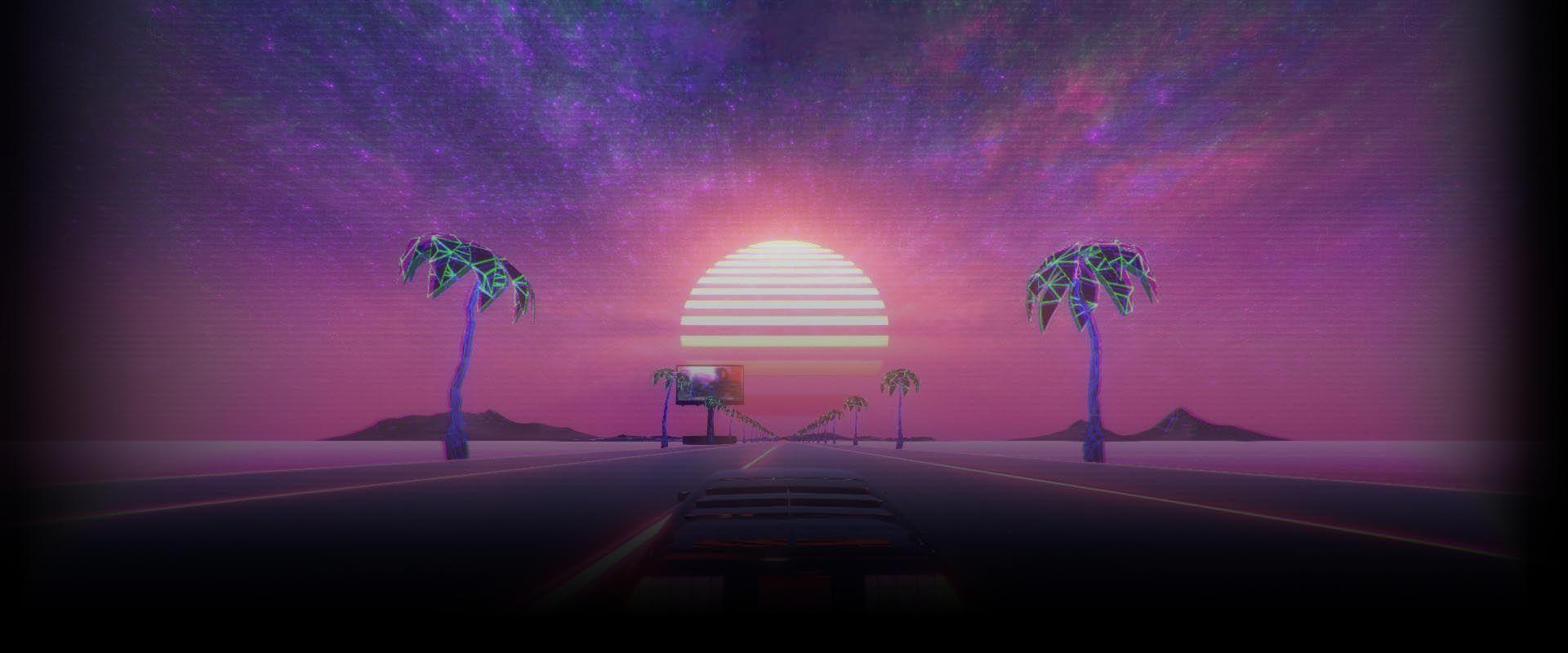 Soobshestvo Steam Rukovodstvo Vybor Fona Dlya Profilya Neon Palm Tree New Wallpaper Wallpaper