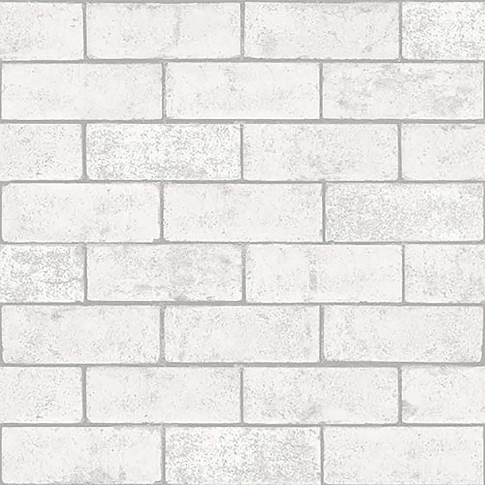 Crown 56 4 Sq Ft Kirsten White Industrial Brick Wallpaper M1370 The Home Depot White Brick Wallpaper Exposed Brick Wallpaper Brick Wall Wallpaper