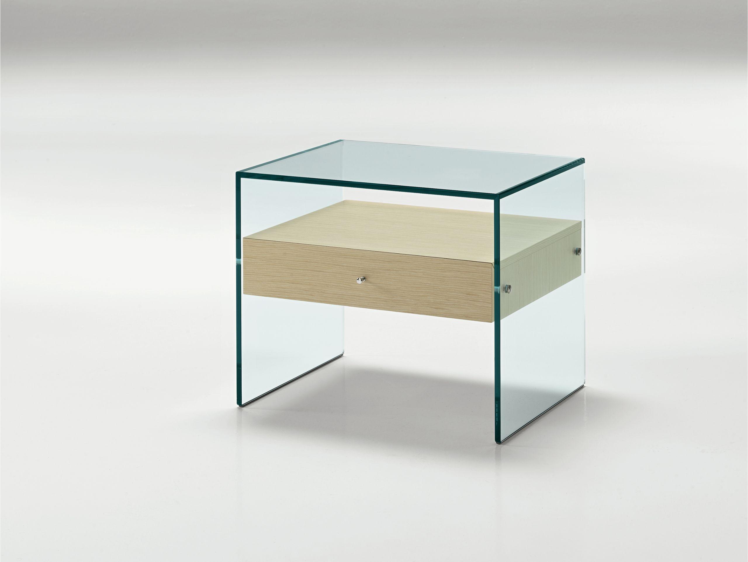 Glass Bedside Table Secret By T D Tonelli Design Glass Bedside