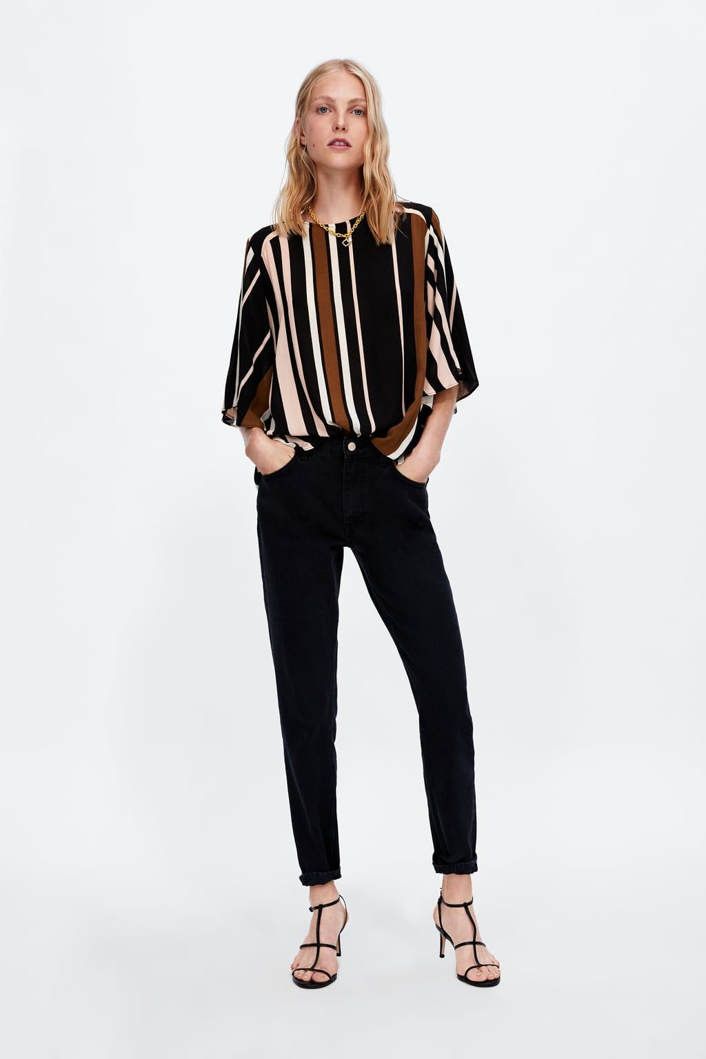 c093589b8cff21 ZARA - WOMAN - STRIPED BLOUSE