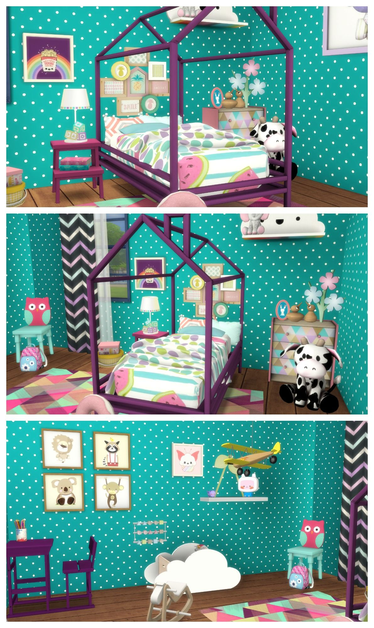 SIMS 4 TODDLER BEDROOM Room Build CC List Sims