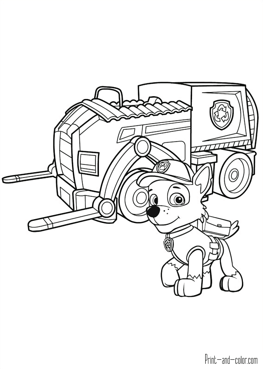 There Are Many High Quality Paw Patrol Coloring Pages For Your Kids    Printable Free In One Click.