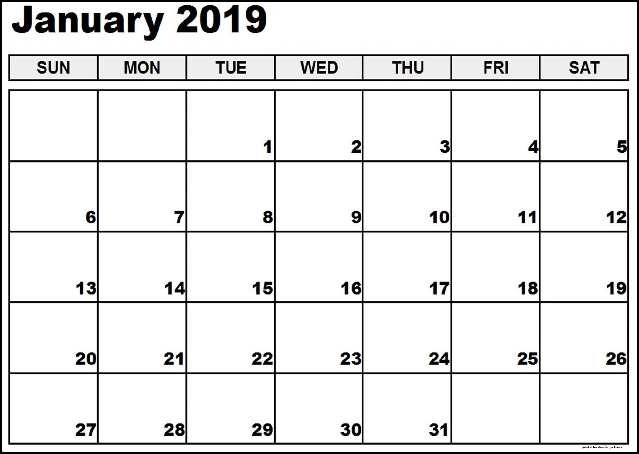 January Calendar 2018 Holidays In Word