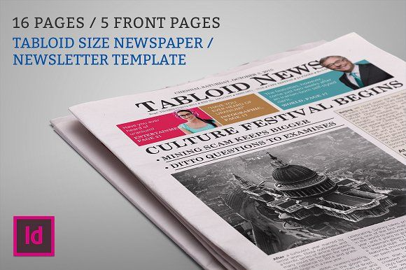 Newsletter  Newspaper Template By Studio Designs On