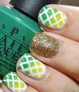 Unhas decoradas para torcer para o Brasil #copadomundo #verde #amarelo #esmalte #manicure #nailart #nails #beleza