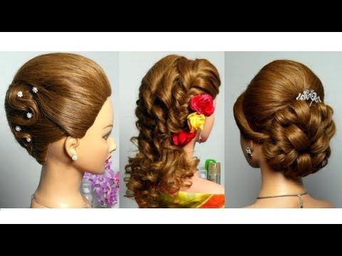 Youtube Hairstyles Curly Prom Bridal Hairstyle For Long Hair Tutorial  Youtube