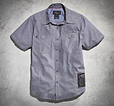 #1 Badge Striped Shirt