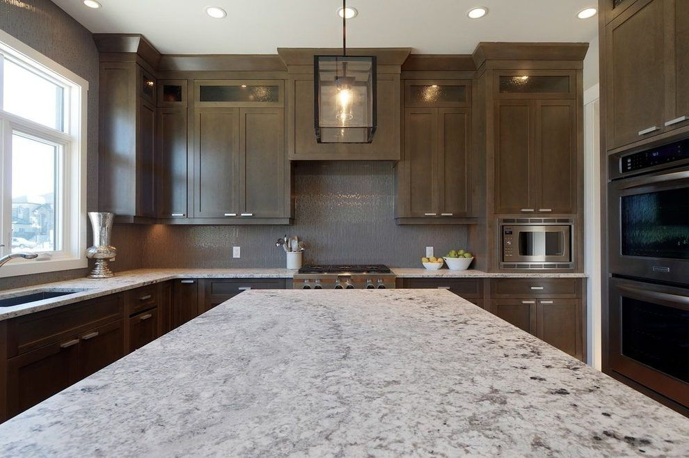 grey stained maple kitchen contemporary with maple ... on Gray Countertops With Maple Cabinets  id=71379