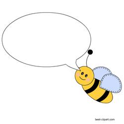 Cute Bee With Blank Speech Bubble Clip Art Clip Art Free Clip Art Bee