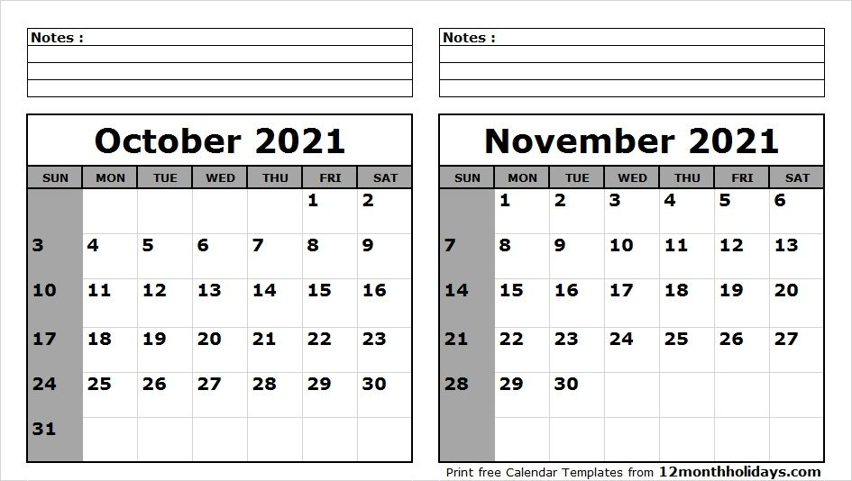 September October November 2021 Calendar In 2020 2020 Calendar Template Calendar Template Calendar Printables