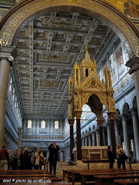 Basilica Di San Paolo Fuori Le Mura Roma Basilica San Cathedral