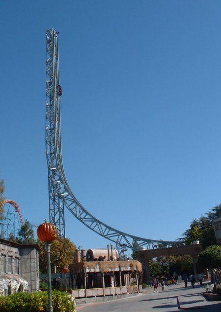 Superman Ride At Magic Mountain Valencia Ca Riding Golden Gate Bridge Bay Bridge