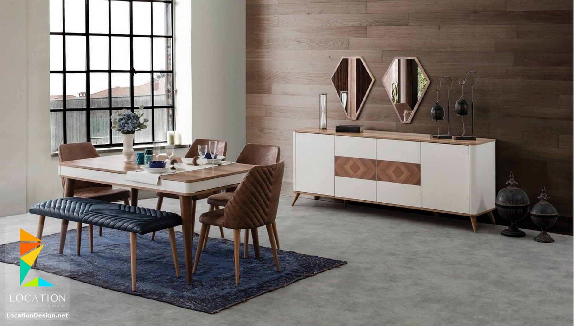 غرف سفرة مودرن كاملة باشيك واحدث تصميمات والوان متميزة Living Dining Room Farm House Living Room Wardrobe Furniture