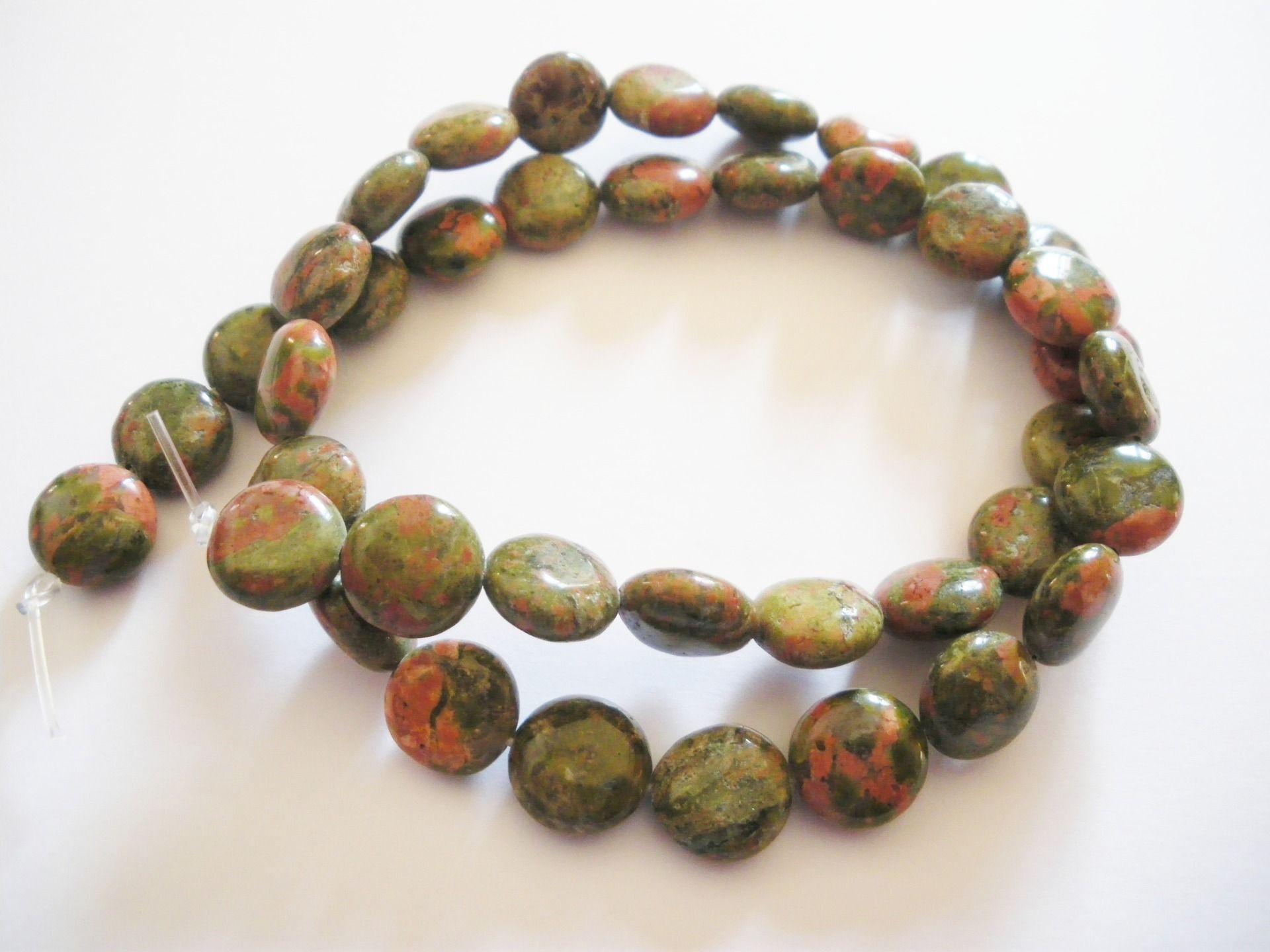 Perles de pierres fines leopardskin chapelet 40 perles : Perles pierres Fines, Minérales par mercerie-jewelry