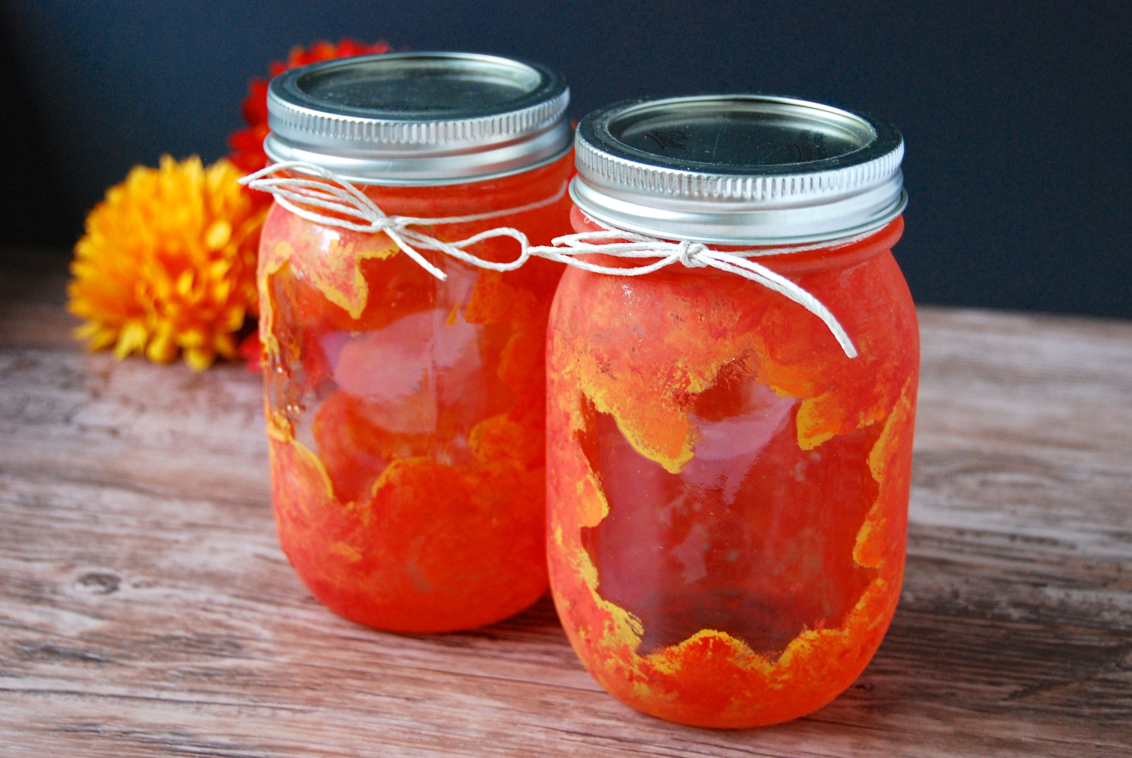 Learn how to make your own autumn inspired mason jars