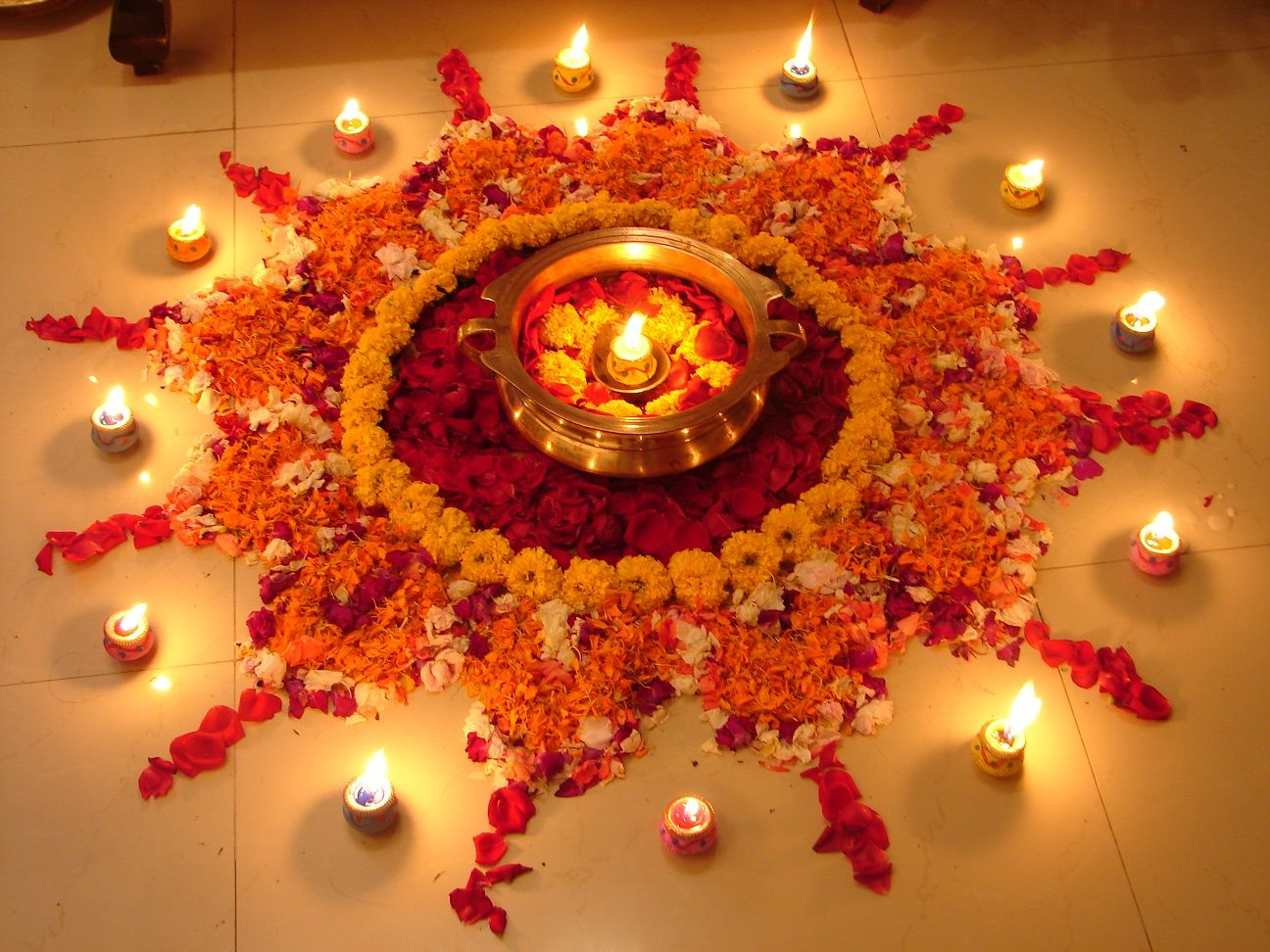 Rangoli Designs with Flowers - Rangoli | Rangoli designs, Diwali ... for Flower Rangoli Designs For Diwali  14lpgtk