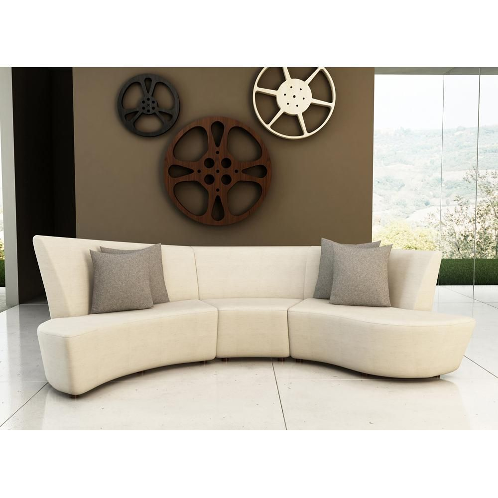 Curved Contemporary Sofa Google Search Sofas For Small Spaces