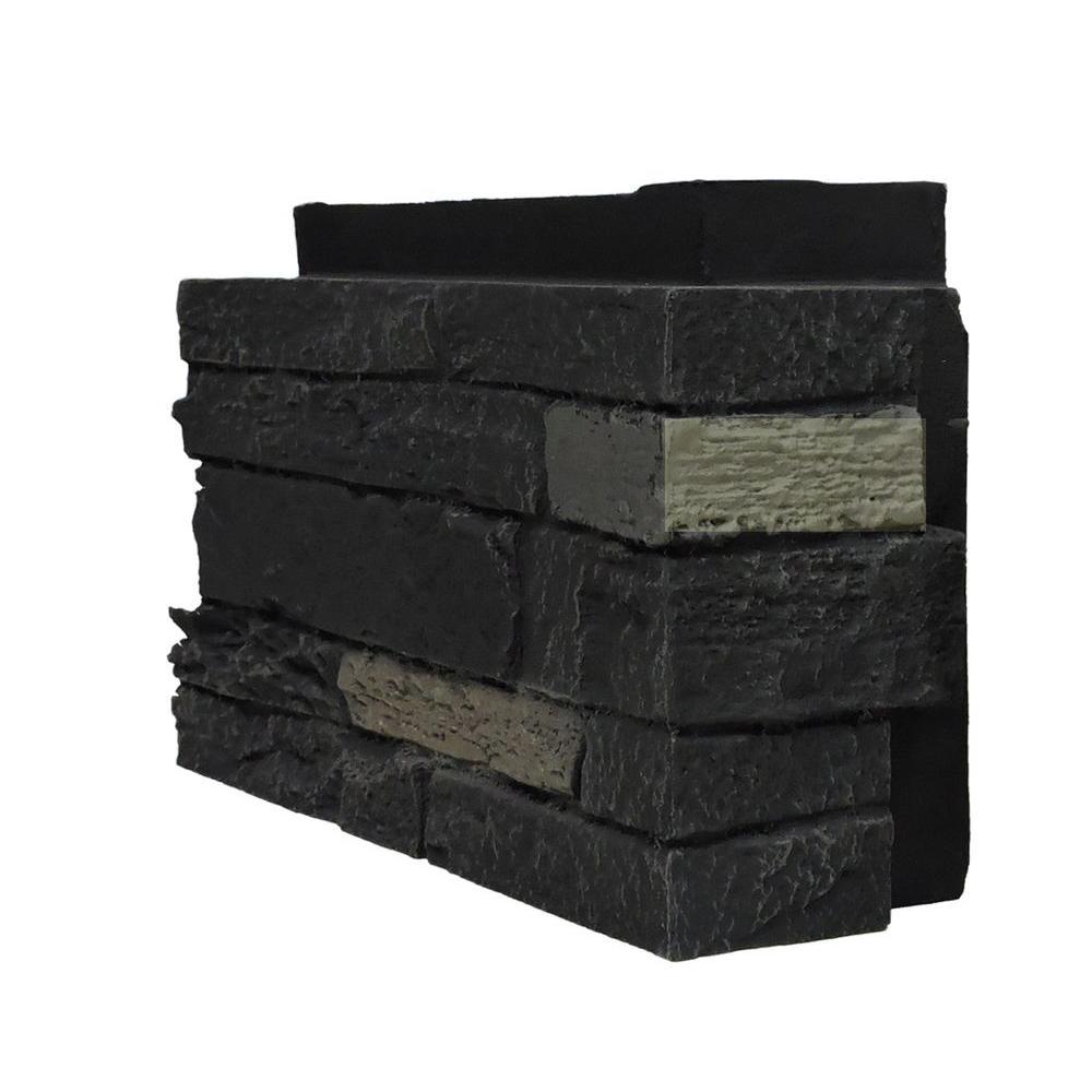 Nextstone Slatestone Onyx 4 5 In X 12 75 In Faux Stone Siding