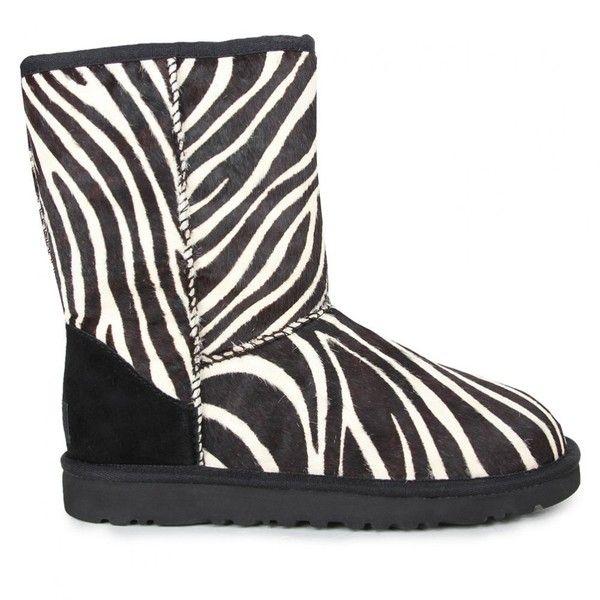 e8edd4a806d Ugg Australia Womens Black Short Exotic Zebra Print Boots ($305 ...