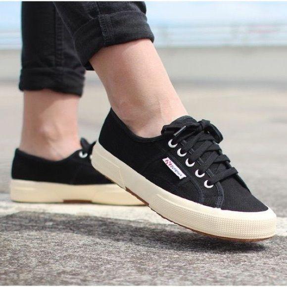 Superga Black Canvas Cotu Sneakers