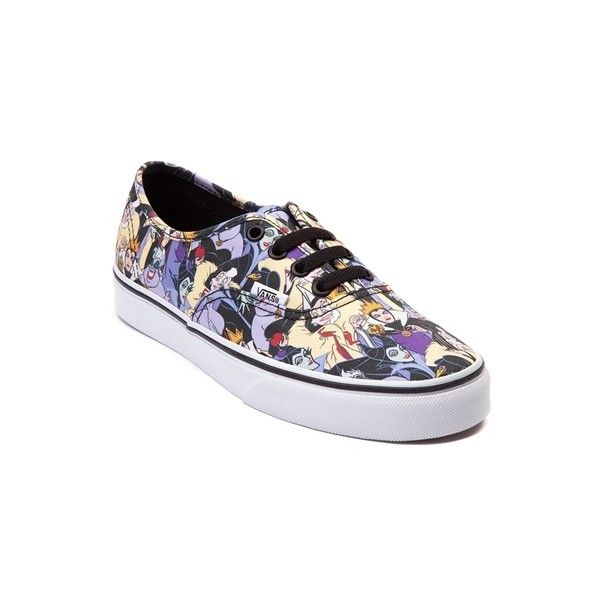 Disney and Vans Authentic Villainesses Skate Shoe ($5,999) ❤ liked on Polyvore featuring shoes, sneakers, laced sneakers, laced shoes, lace up shoes, laced up shoes and grip shoes
