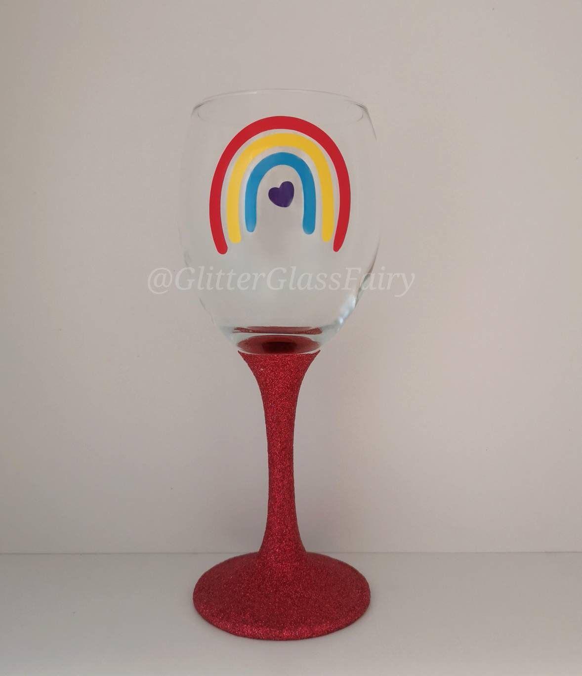 Pin On Glitter Glass Wine Glass Gin Pint Mason Jar Glasses Decorated Glass