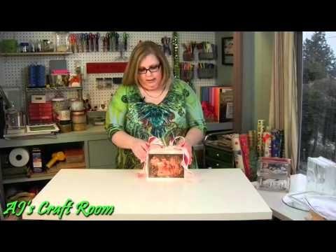 Decoupaged Glass Blocks - AJ's Craft Room  (Home Decor Idea)
