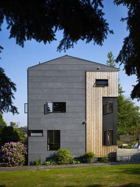 Contemporary Exterior Design Modern Wood Siding Modern House Exterior Elevation: Fiber Cement Siding Cost Exterior Contemporary With Casement Windows Cedar Concrete
