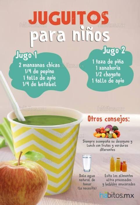 recetas de jugos saludables para niños