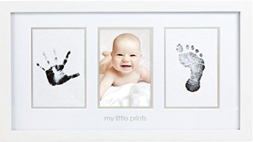 Pearhead Babyprints Newborn Baby Handprint and Footprint Photo Frame ...