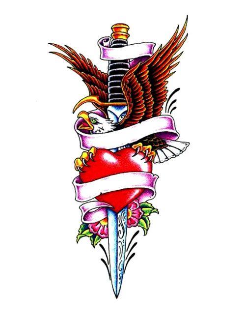 eagle and dagger tattoos designs | tattoos | Tattoo ...
