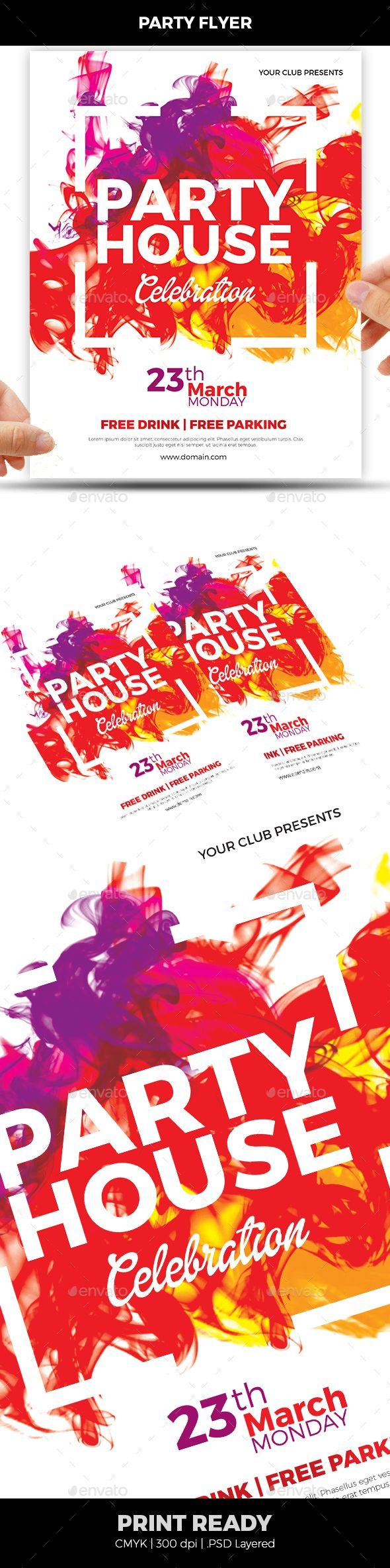colorful flyer christmas colors flyer template and template