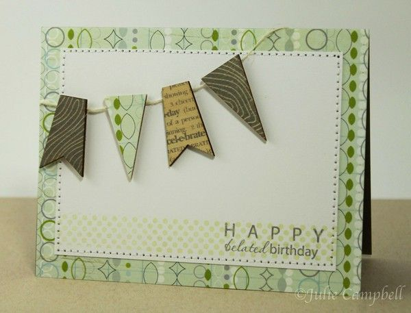 2peas card! Love the wooden pennants
