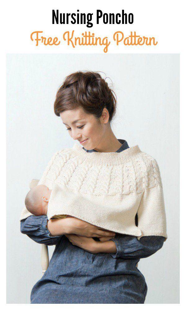 Nursing Poncho Free Knitting Pattern