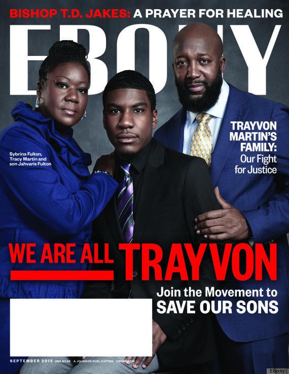 Ebony magazine's beautiful September 2013 issue - We are Trayvon covers
