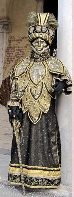 Venetian mask and costume