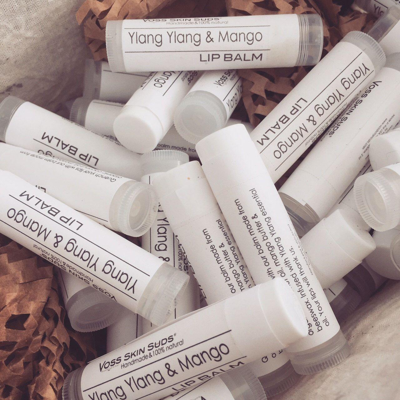 Lip balm | Wedding favor | Vegan lip care | Mango butter & Ylang ...