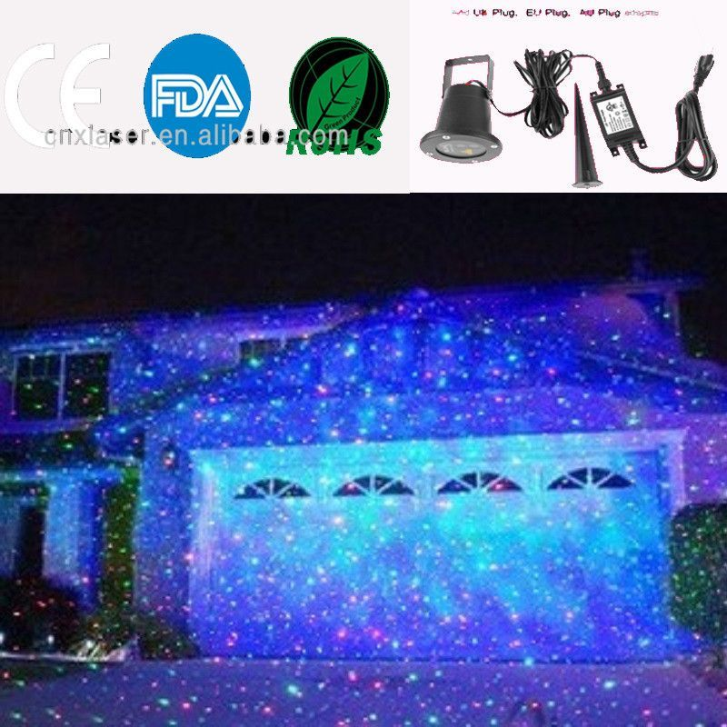 Outdoor Laser Christmas Light Show Projector With Remote Rg Star Projection Shower For House Party Yard Garden Tree Lighting