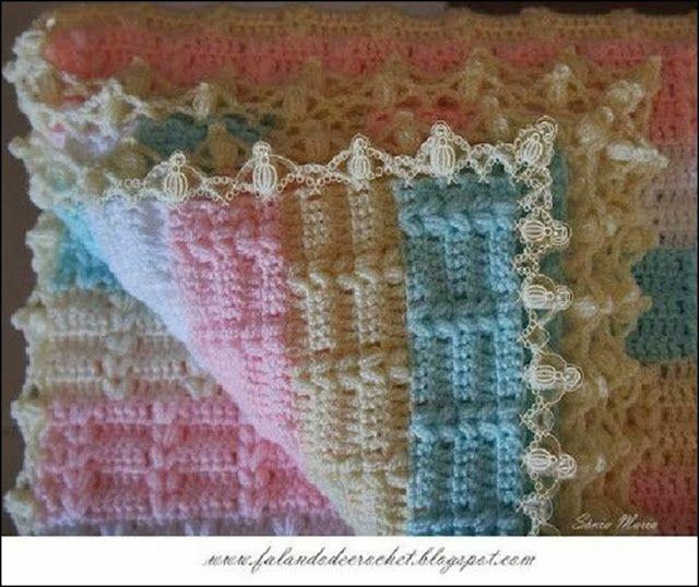 Mantilla Tejida A Crochet | ideas | Pinterest | Mantas tejidas ...