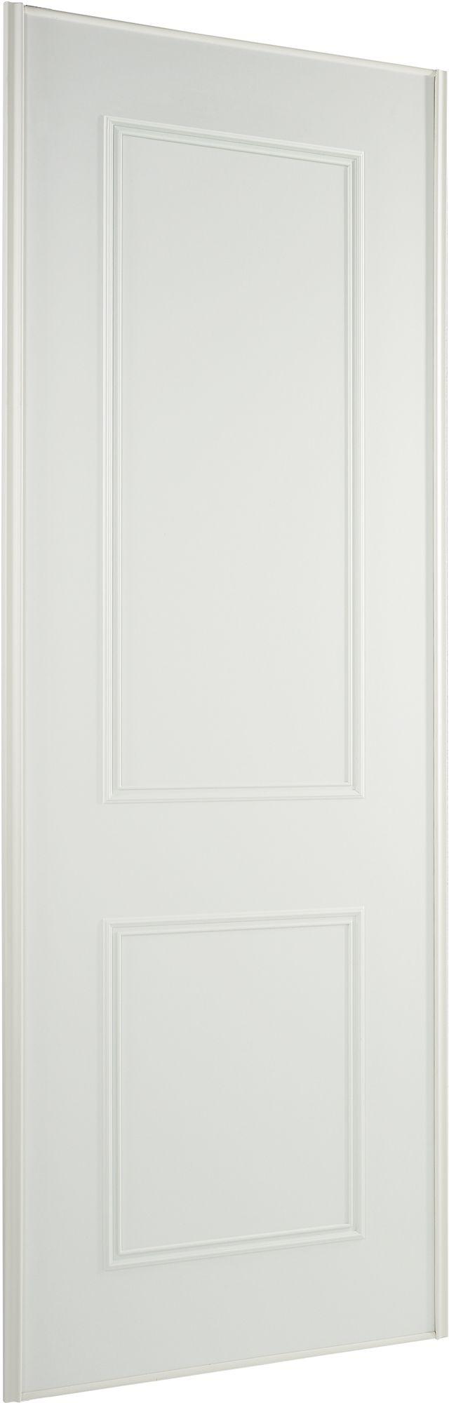Panel White Wood Effect Sliding Wardrobe Door (H)2220 mm (W)914 mm