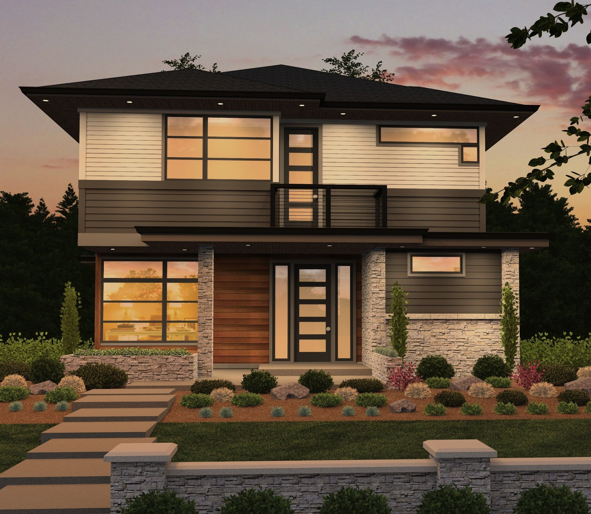 Sixth Avenue Contemporary House Plan By Mark Stewart Contemporary House Contemporary House Plans House Plans