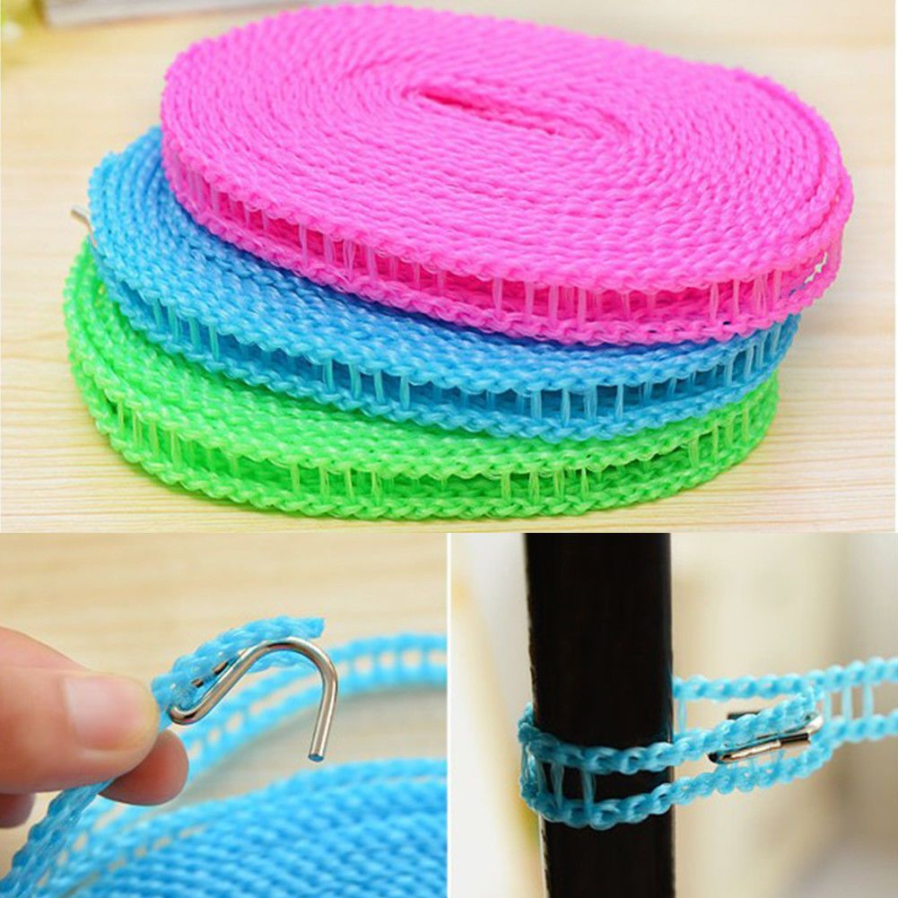 0 99 5m Portable Washing Clothes Line Rope Outdoor Travel