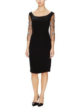 Silk Jewel Sleeve Dress  from Dress Shop: Date Night Dresses on Gilt