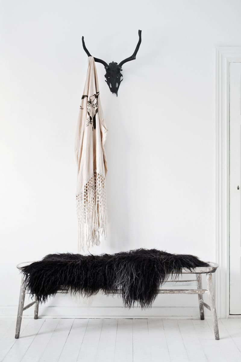 wherever we hang our kimonos.. that's our home ♡ / the warriors   stag amulet fringe kimono : spell   more of this home in the latest blogpost {http://lovewarriors.se/a-warrior-weekend}   © hannah lemholt